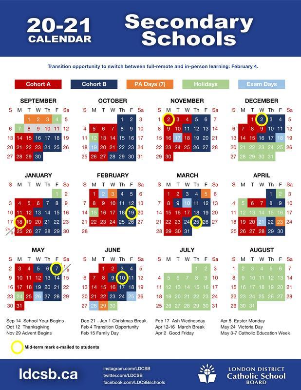 20-21 Cohort Calendar