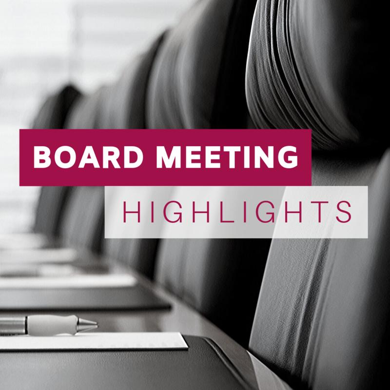 Board Meeting Highlights image