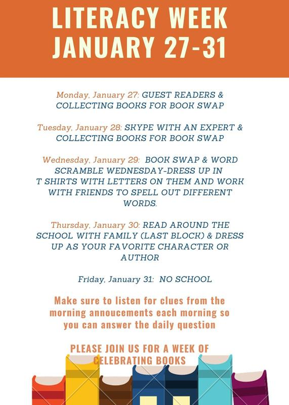 Literacy Week - January 27-31, 2020 Featured Photo