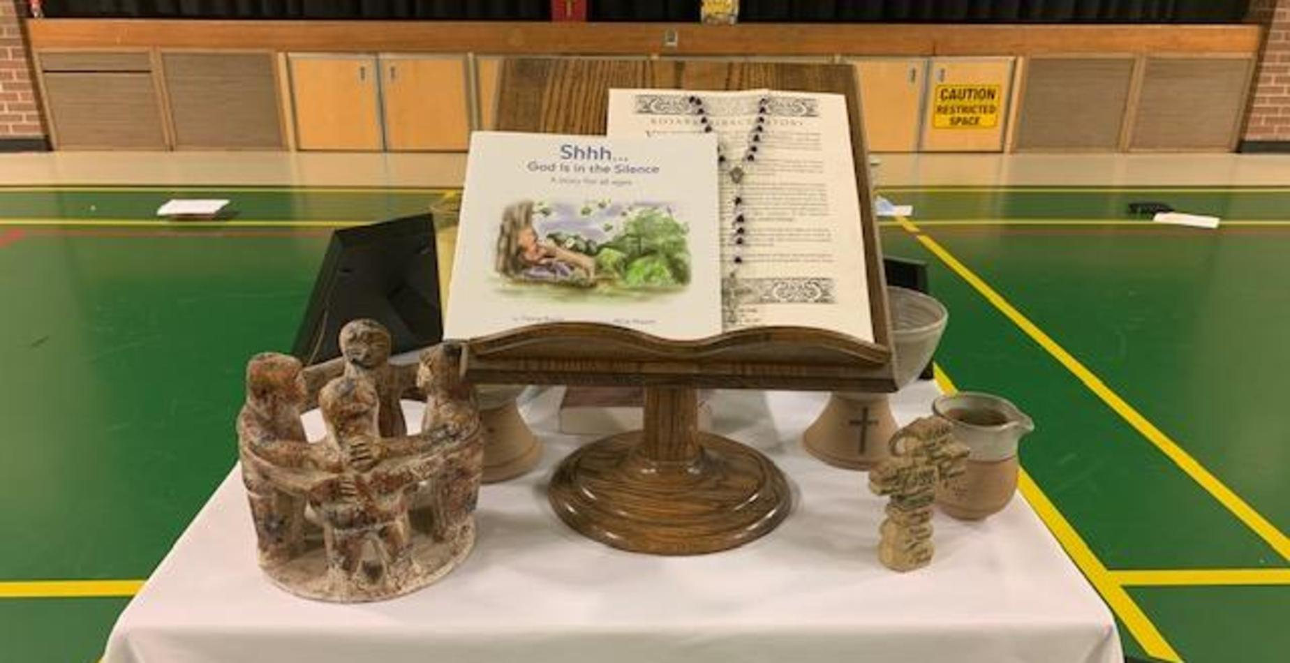 Photo of childs prayer table