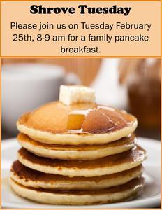 Shrove Tuesday- family pancake breakfast Featured Photo