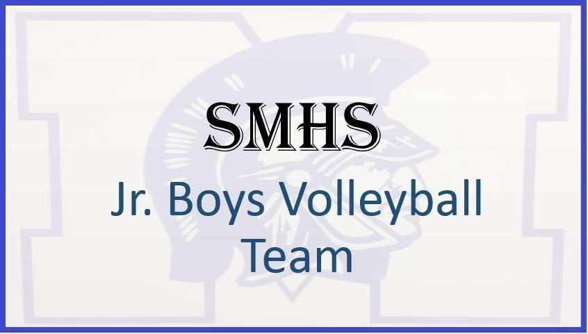 saint marys logo with junior boys volleyball text