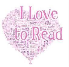 I love to read word splash