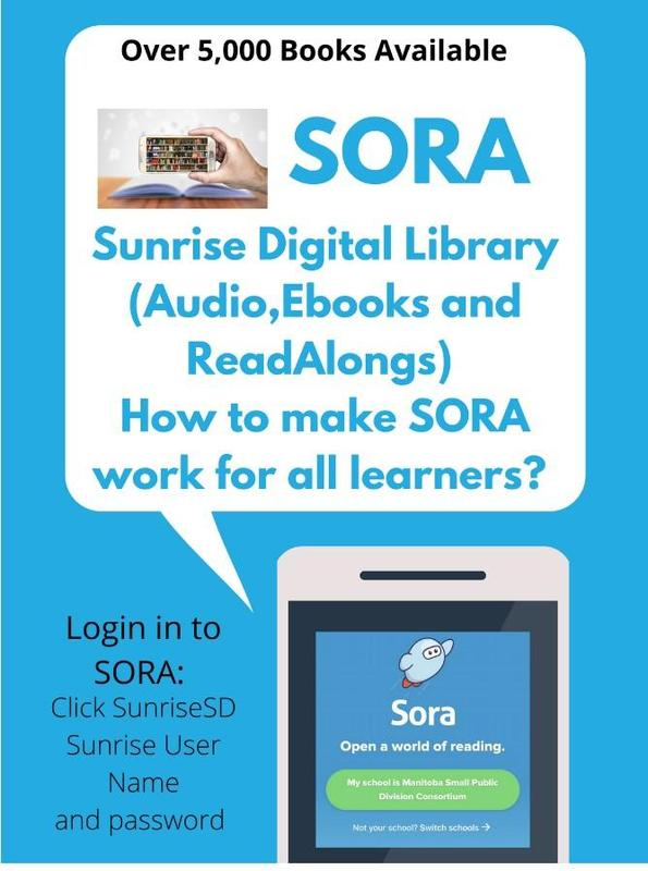 Sign with Sora advising Audio, Ebook and Read alongs, and how Sora can work for you.