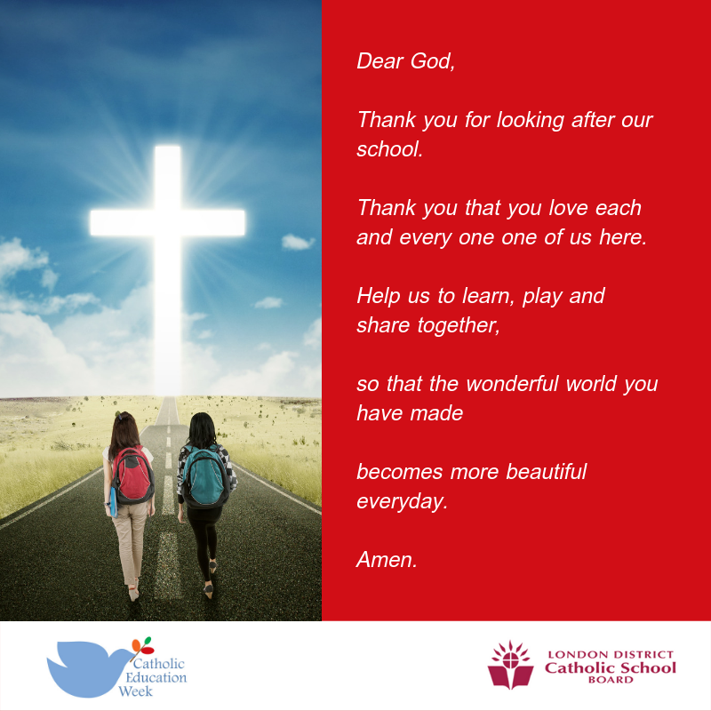 Catholic Education Week prayer
