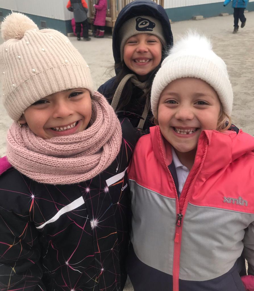 The cold weather hasn't dampened anyone's spirits !