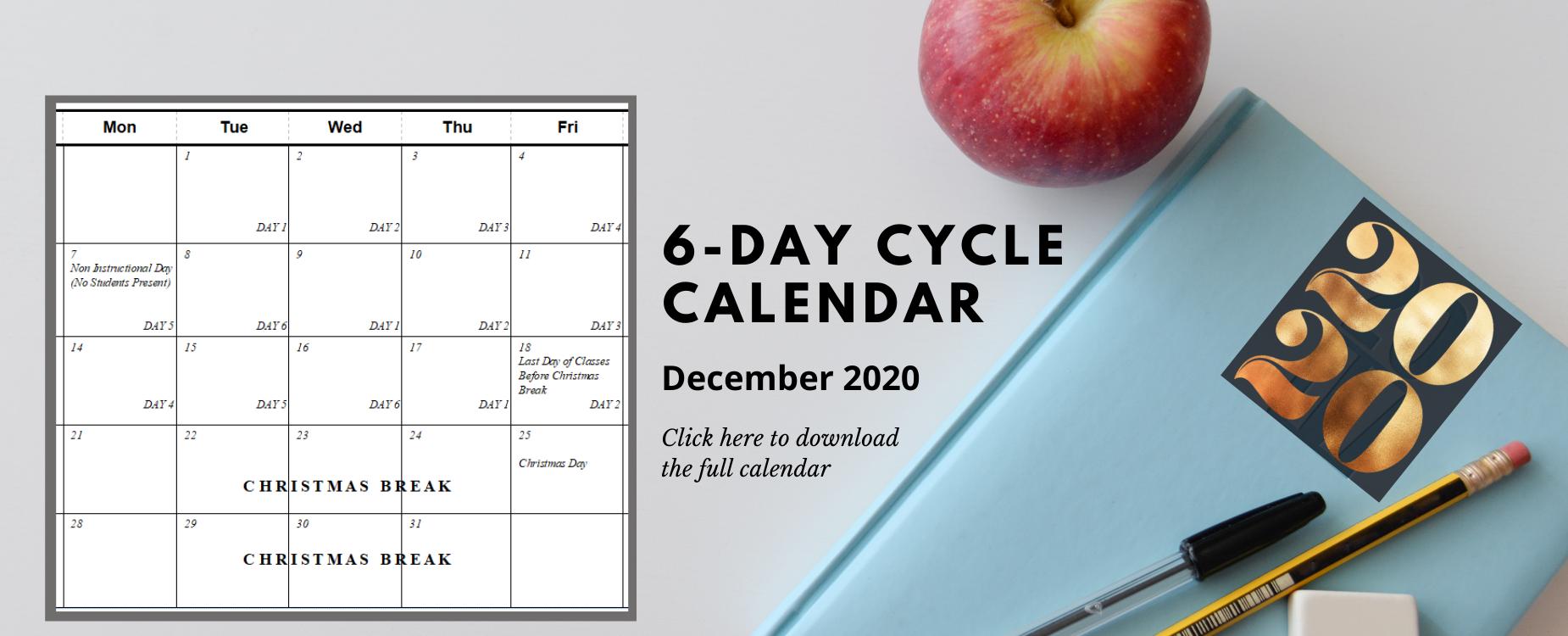 6-Day Cycle Calendar MVSD