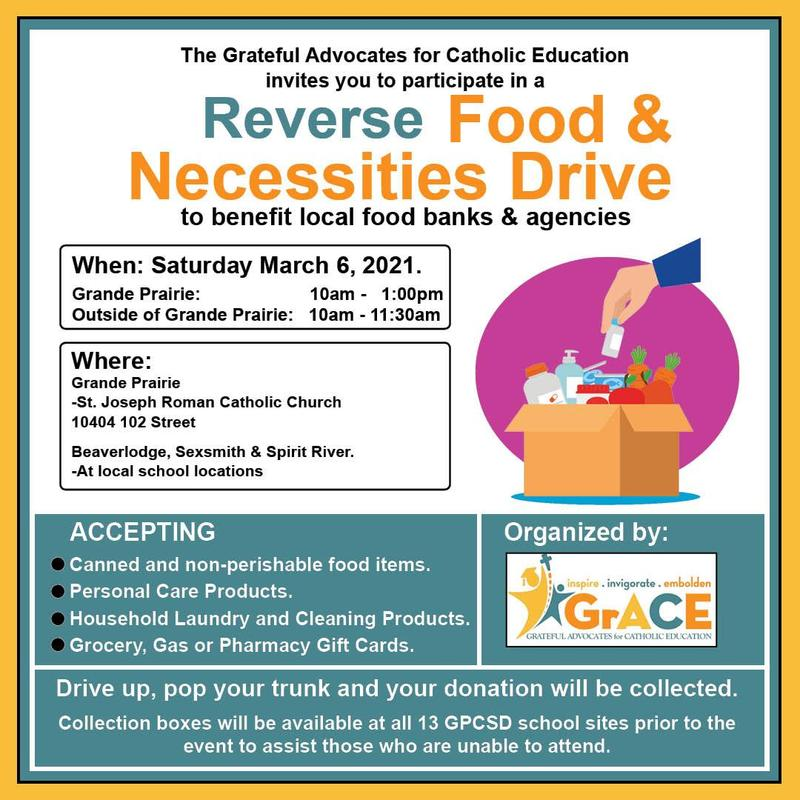 March 6th - GRACE Reverse Food & Necessities Drive Featured Photo