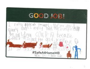 A handwritten letter with Good Job written across the top.