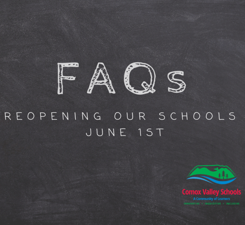Frequently Asked Questions - Reopening Schools UPDATED May 25 Featured Photo