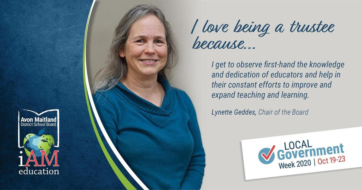 Photo of Lynette Geddes with quote