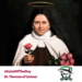Saint Therese of Liseaux holding roses