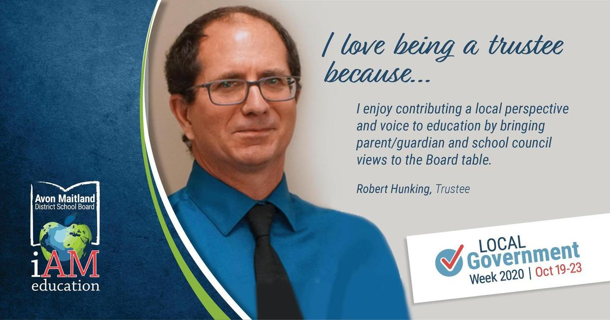 photo of robert hunking with quote