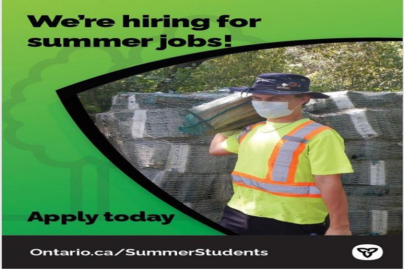 We're hiring for summer jobs! Apply today! Ontario.ca/SummerStudents
