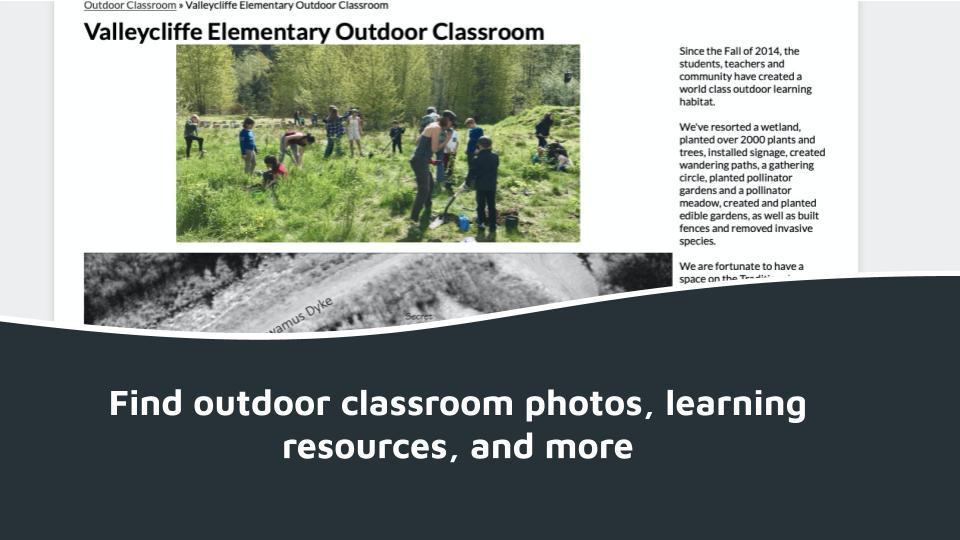 Find outdoor classroom photos, learning resources, and more