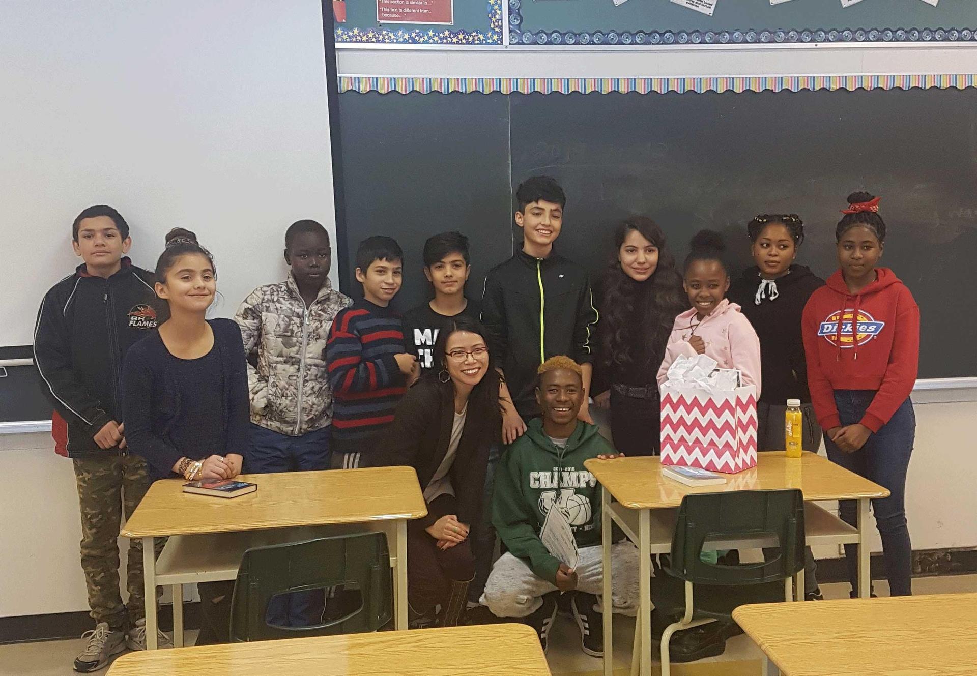 eld students meet author