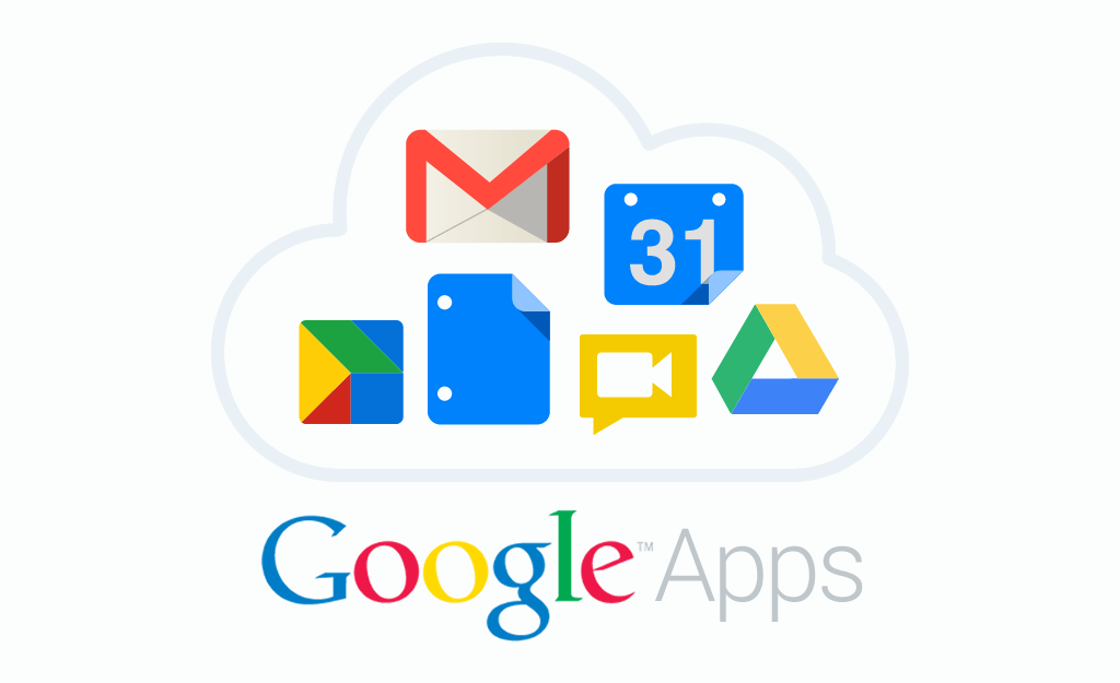 collage of google app icons