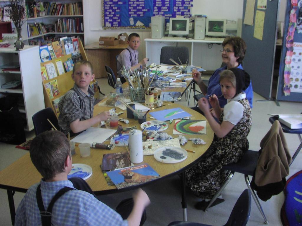 Art class at Gross School