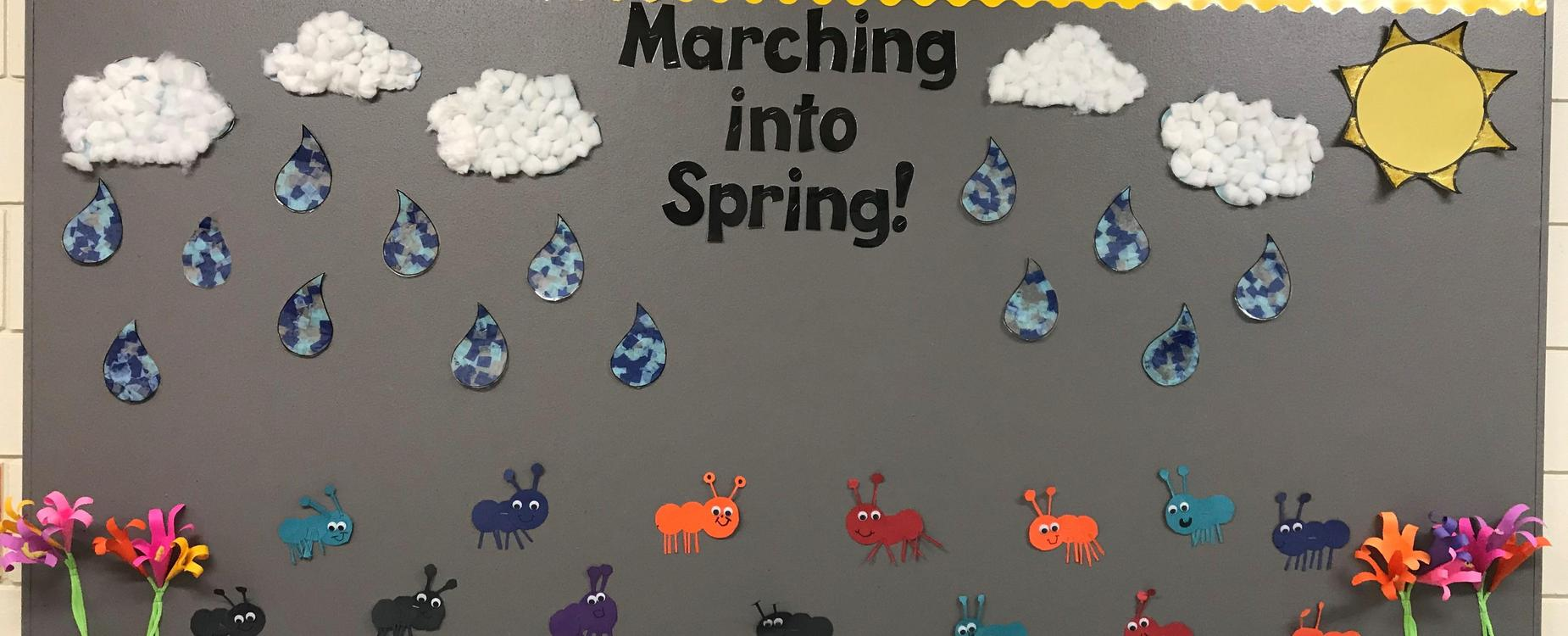 Marching into Spring Bulletin Board