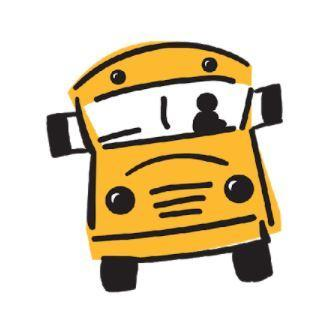 Cartoon photo of school bus