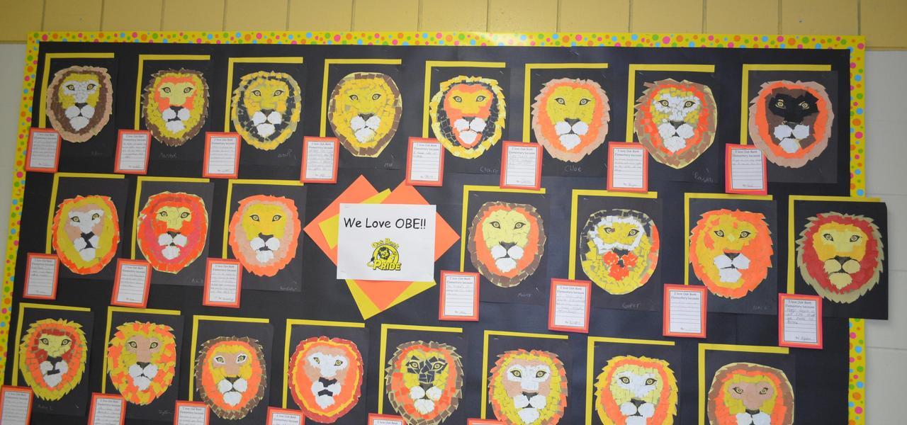 We love Oak Bank Elementary bulletin board