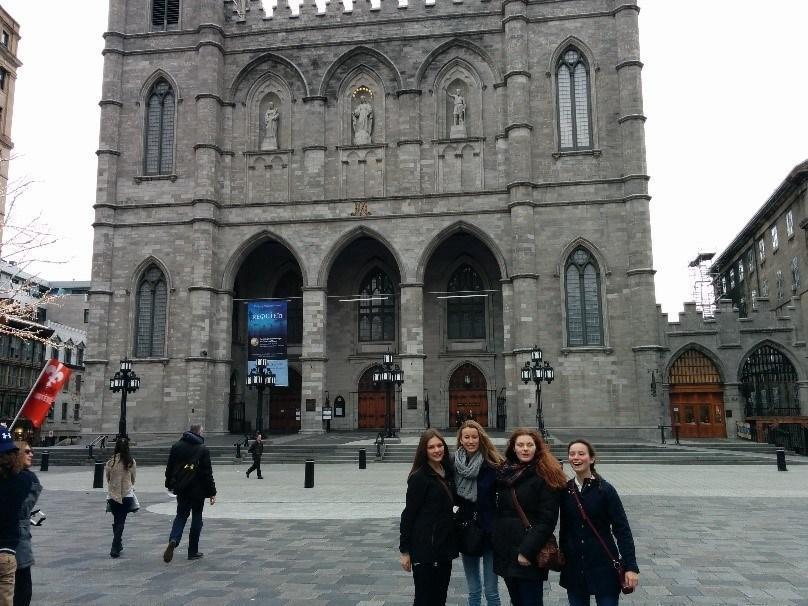 Some CCH Debate Team members in front of Notre-Dame Basilica in Montreal!