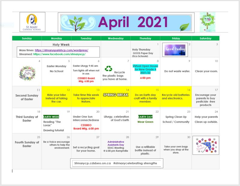 April Calendar Featured Photo