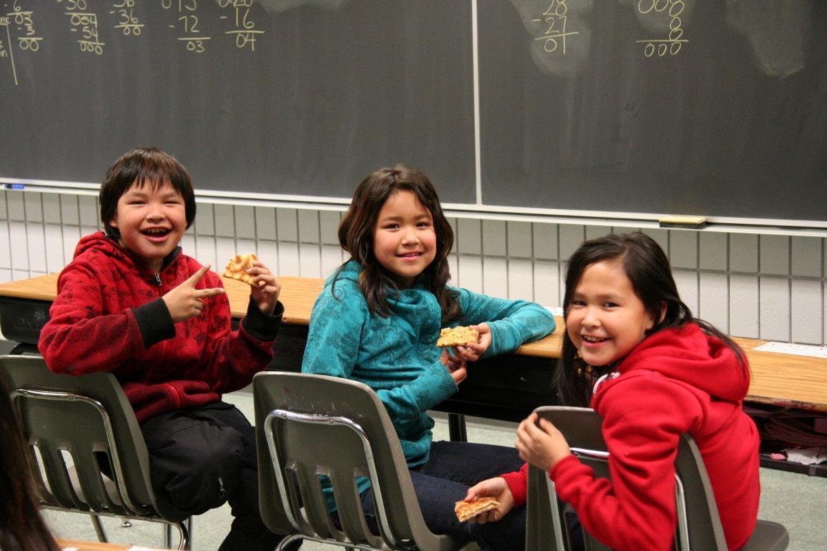 3 children smiling
