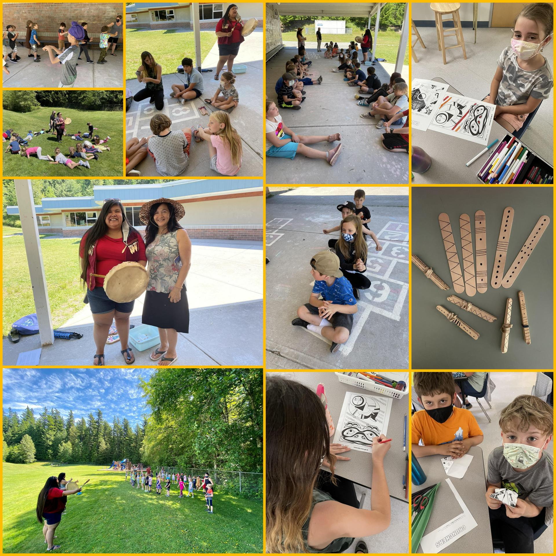 students celebrating Indigenous Peoples Day
