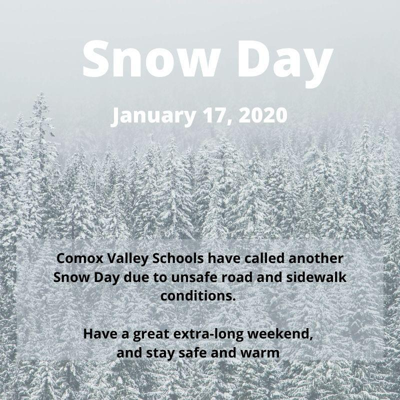 Snow Day January 17, 2020 Featured Photo