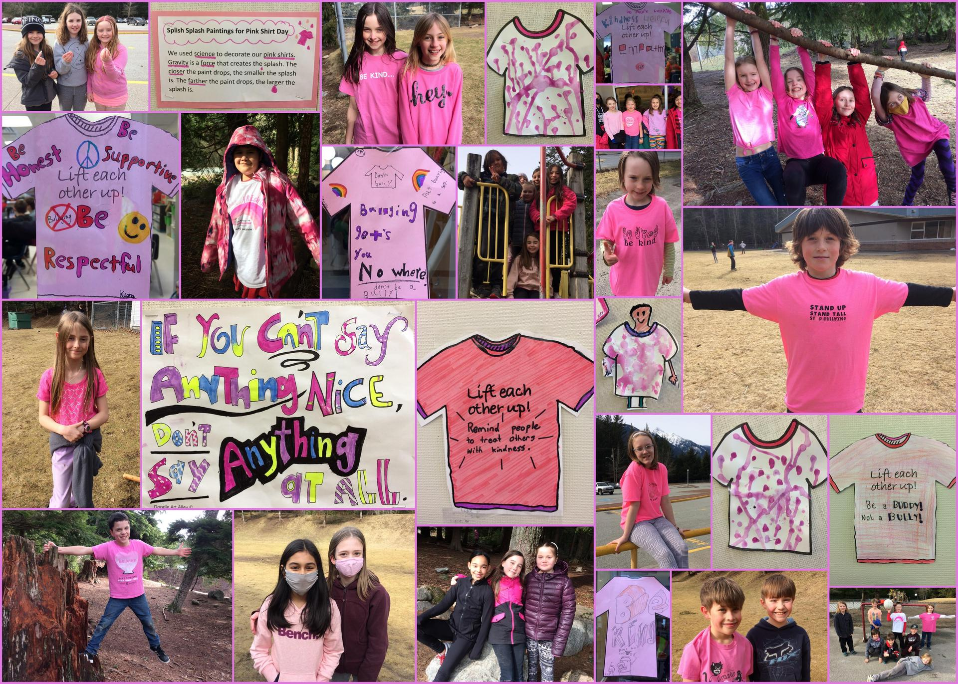 pink shirt day collage