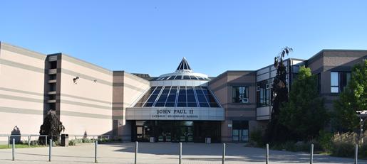 JPII Front of school