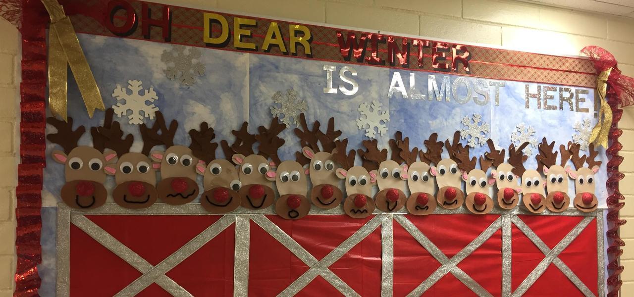 Reindeer bulletin board