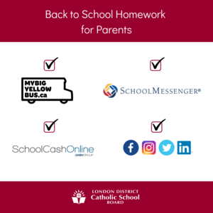 back to school homework for parents graphic