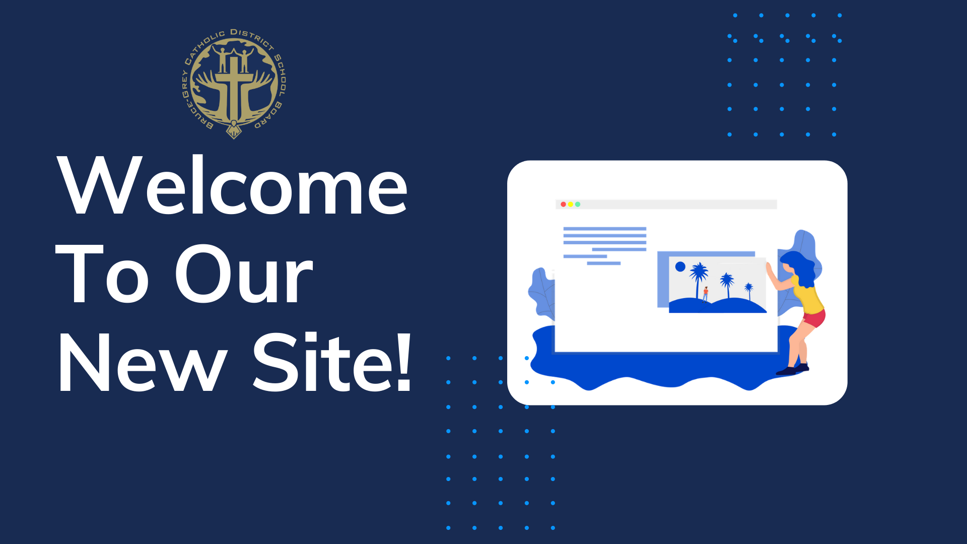Welcome to our new site