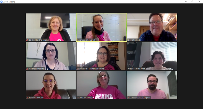 Kindness is the way forward. Living Waters administrators support Pink Shirt Day. Featured Photo