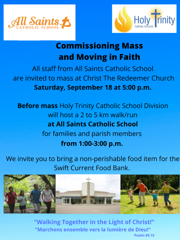 Commissioning Mass and Moving in Faith Walk: September 18 Featured Photo