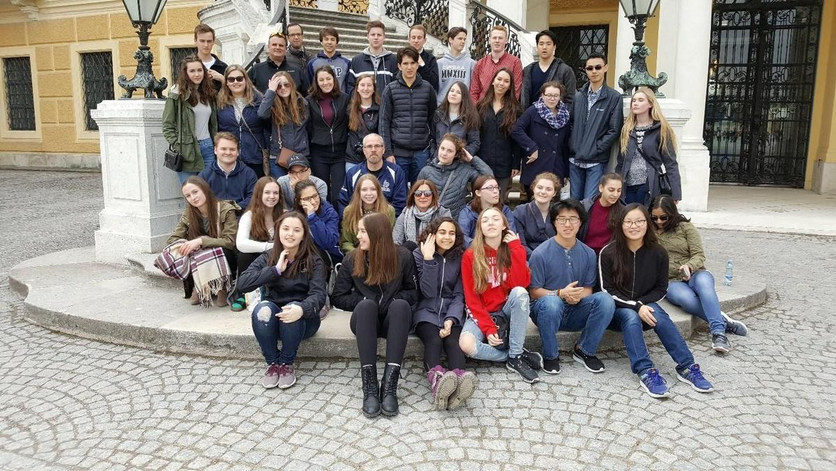 Group picture, Schonbrunn Palace, Austria