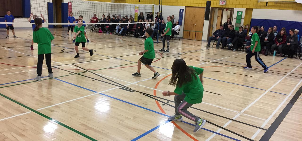 Students playing Triple Ball