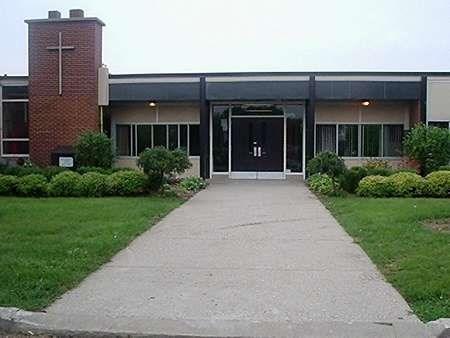 Front view of St. Sebastian Catholic School
