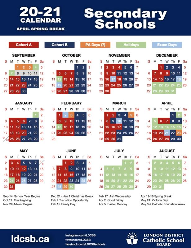 20-21LDCSBSecondaryAprilCalendar
