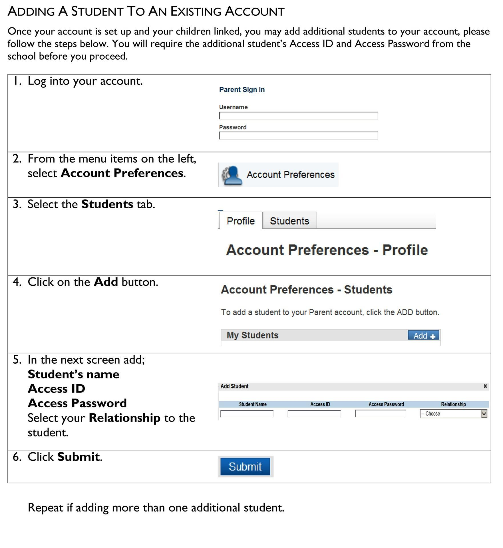 How to sign up for the parent portal