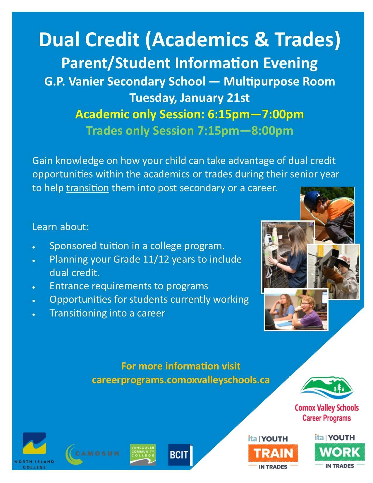 Dual Credit Parent Information Session - January 21st Image
