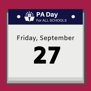 calendar that says Friday, September 27