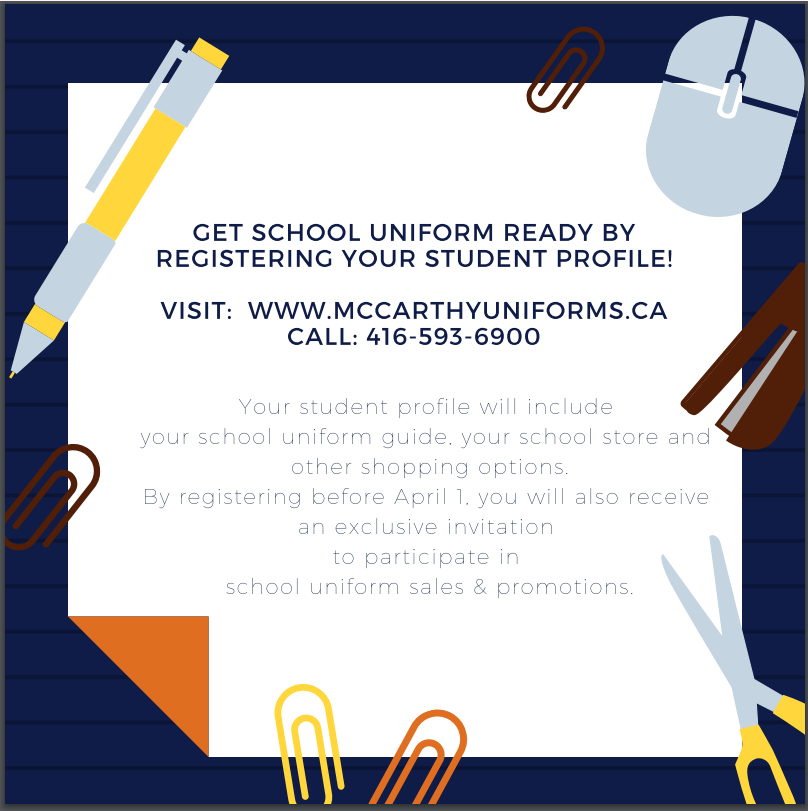 Uniform student profile instructions