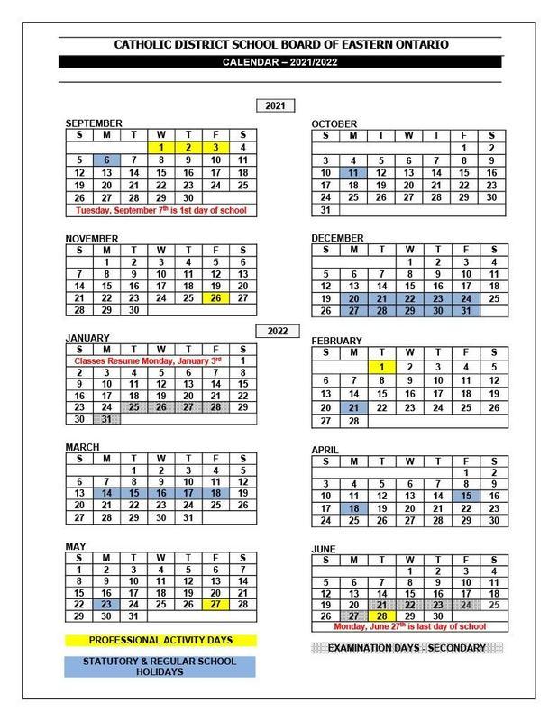 Calendar 2021-2022 Featured Photo