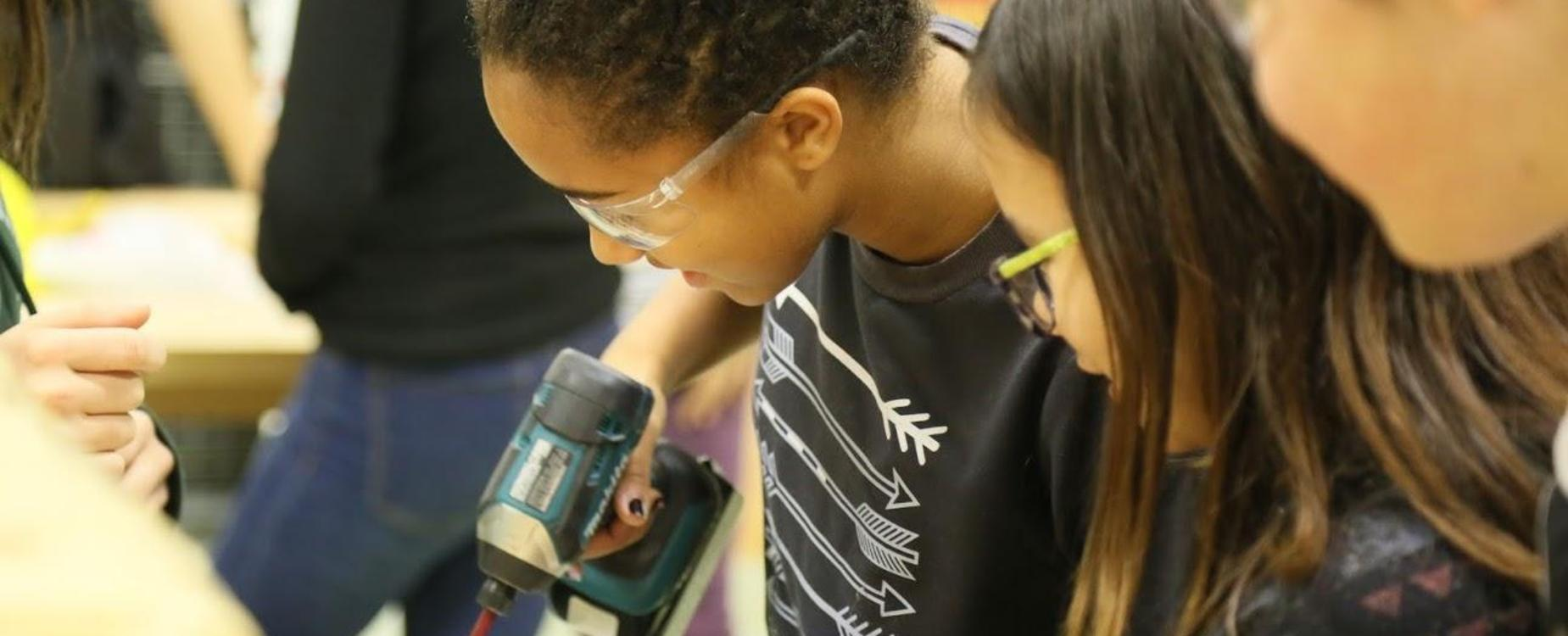 students using drill