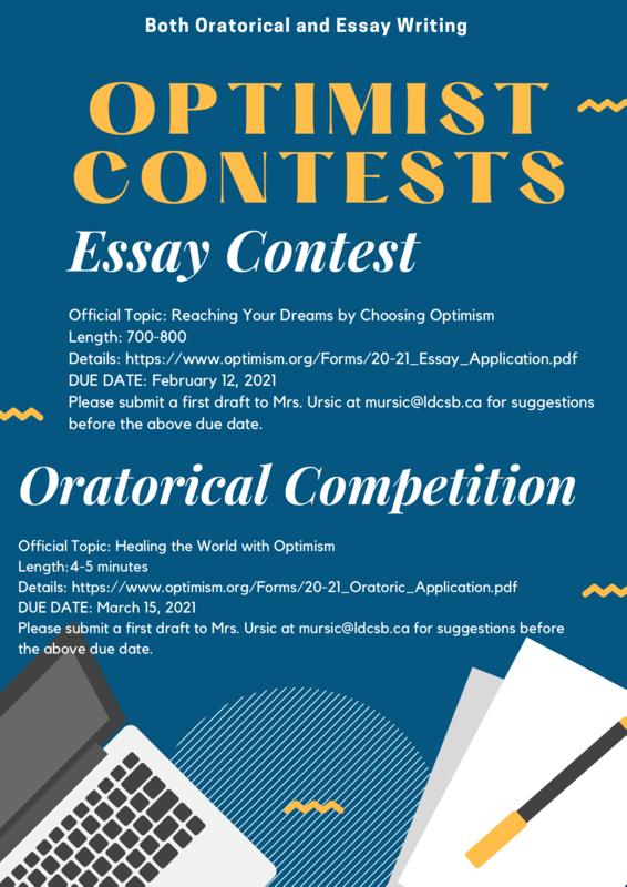 Optimist Contests