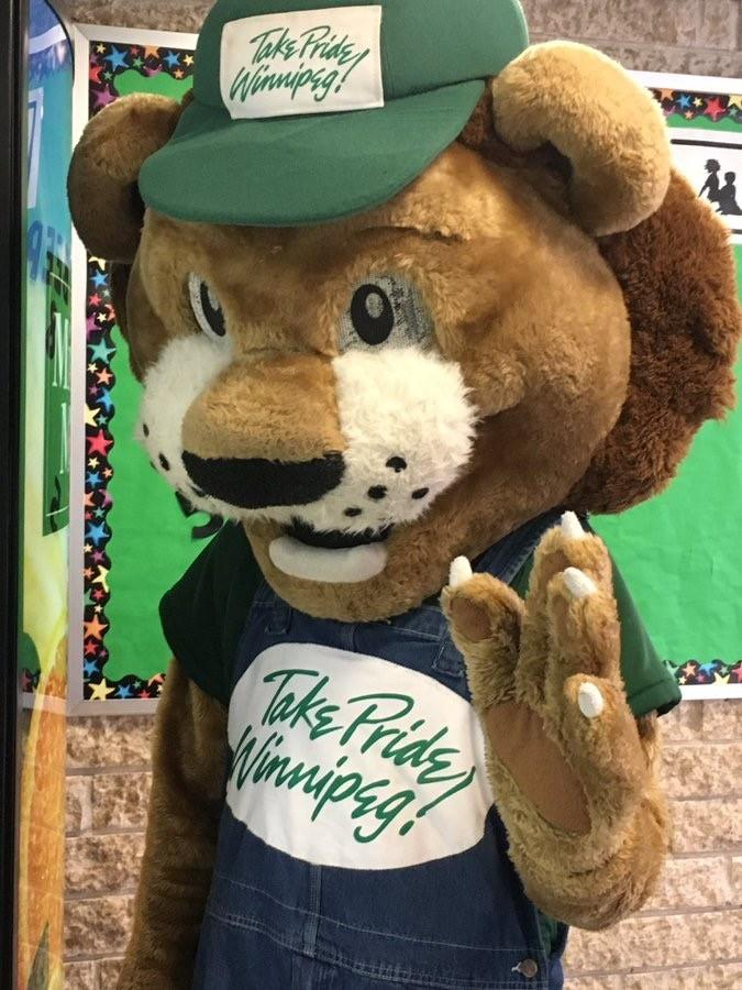 Take Pride Winnipeg Mascot