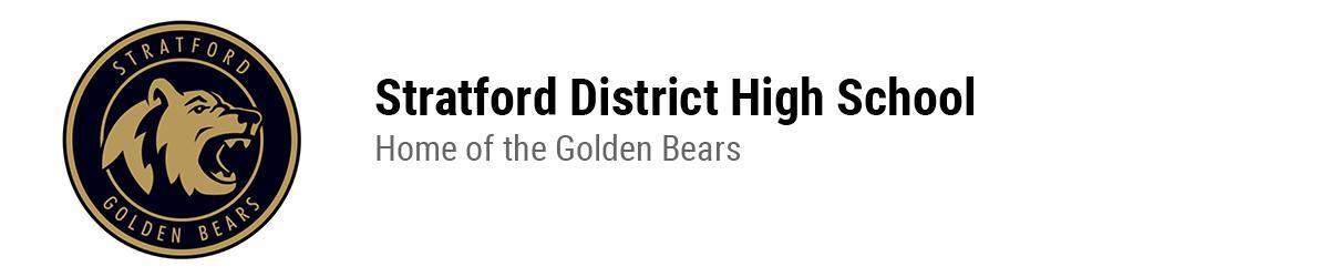 SDSS Golden Bears logo. Stratford District Secondary School. Home of the Golden Bears